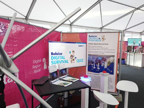 Stand er Baloise Digitalen Pfadfinder am Digital Day 2019