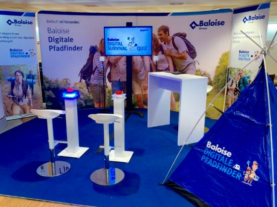 Stand der Baloise digitalen Pfadfinder zum Digital Survival Quiz