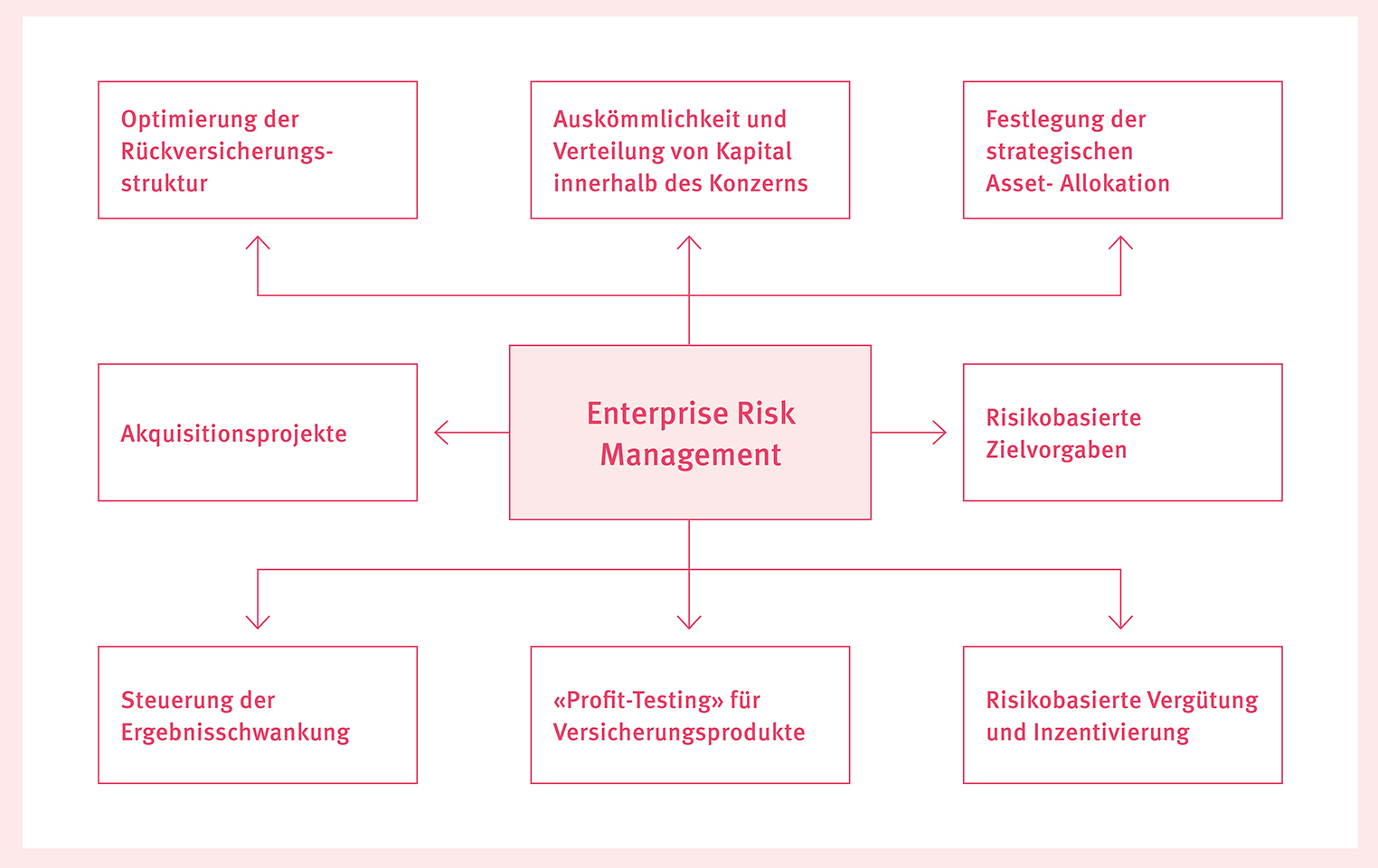 Grafik Enterprise Risk Management einer Versicherung